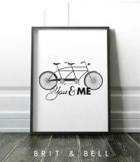 You and Me Quote Wall Art Home Decor Love inspired