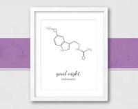 Melatonin Molecule Chemistry Wall Art Molecule Print