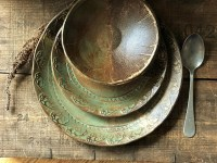 Rustic Wild Buffalo Dinnerware Set Native American Dinner