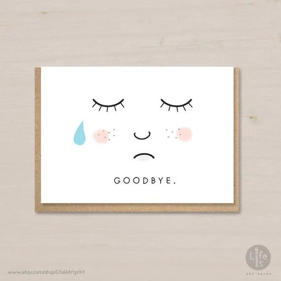 goodbye card template image collections template design ideas - printable goodbye cards