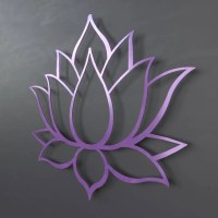 Purple Lotus Flower Metal Wall Art Lotus Metal Art Home