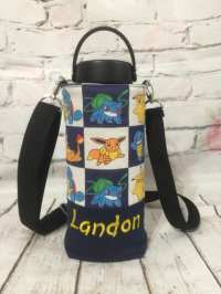 Pokemon canvas hydro flask holder / personalized hydro flask