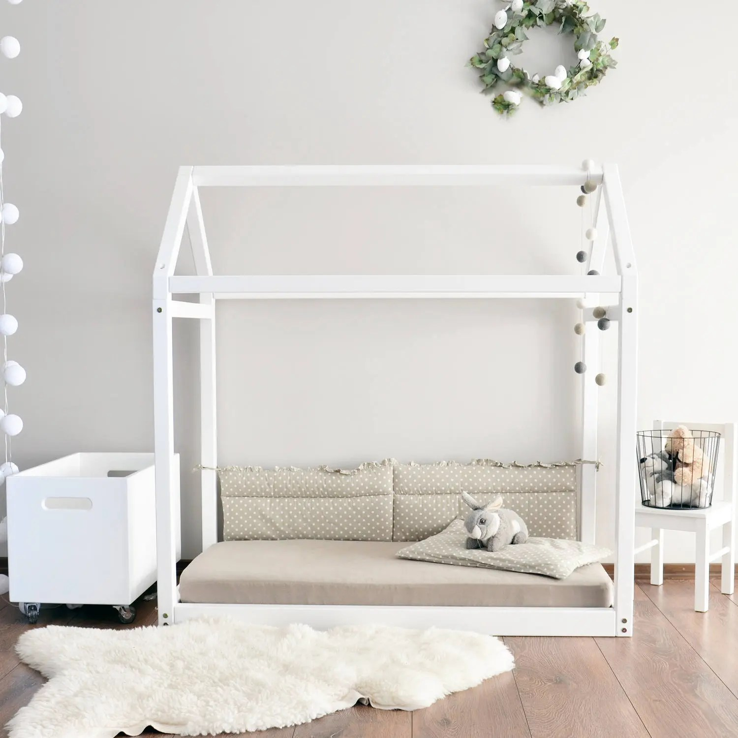 Lit Montessori Ikea House Bed Frame Kids Bedroom Toddler Montessori Bed Baby