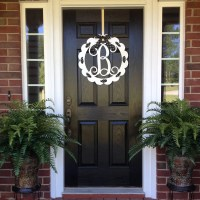 Monogram Door Wreath Front Door Monogram Front Door Wreaths