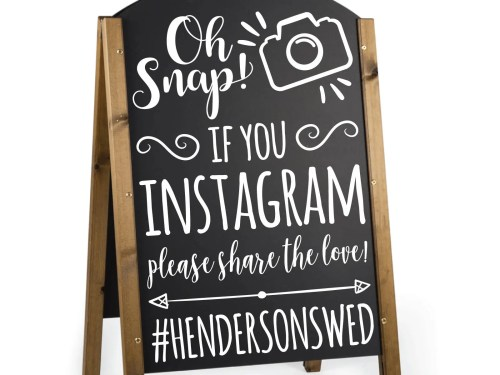 Medium Of Wedding Hashtag Sign