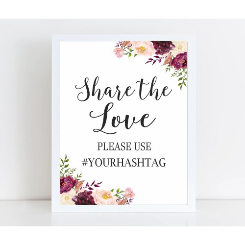 Medium Crop Of Wedding Hashtag Sign