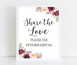 Small Of Wedding Hashtag Sign