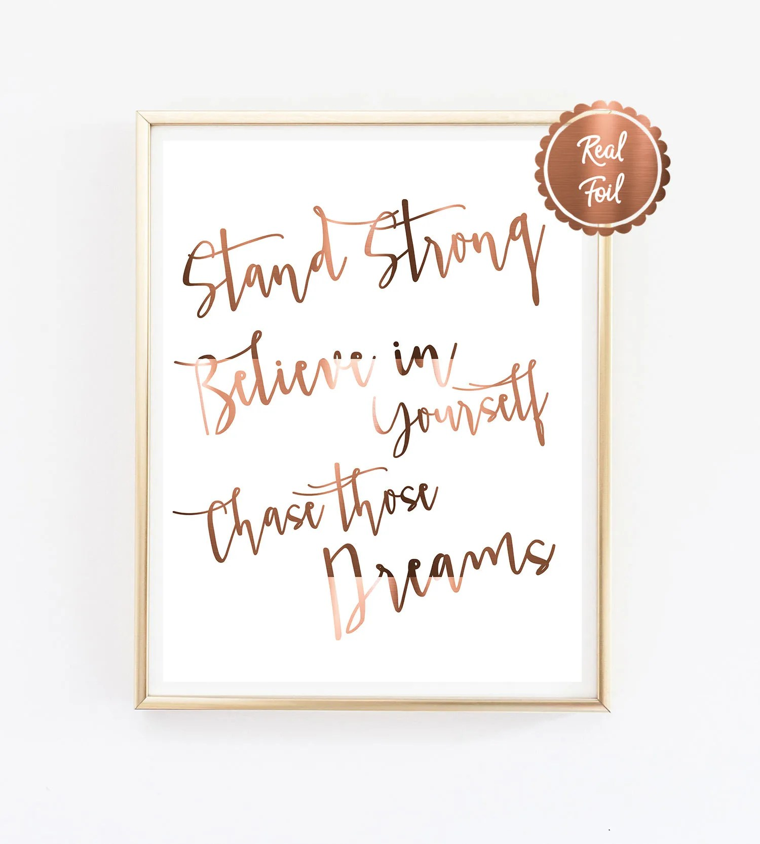 Inspiring Quote Print \/\/ Stand strong \/\/ Believe in yourself - contact information template word