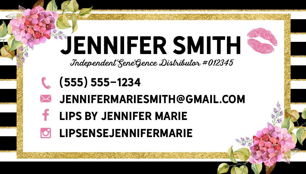 Lipsense, Lipsense Loyalty Card, Lipsense Business Cards, Lipsense - lipsense business card
