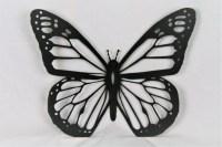 Black Metal Monarch, Butterfly Wall Art, metal butterfly ...