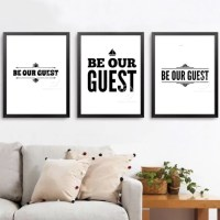Be our guest Guest room wall art Guest bedroom Text