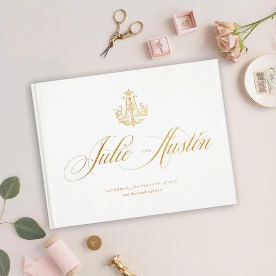 Foil Wedding Guest Book, Wedding Album, Wedding Guest Books, Gold