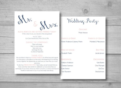 Medium Of Diy Wedding Programs