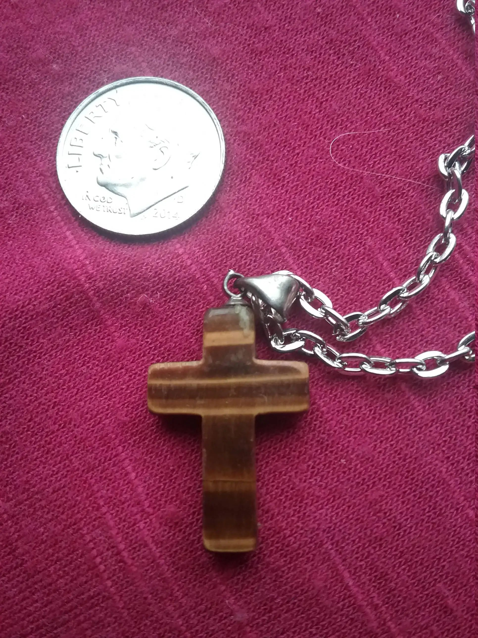 similar to golden tigers eye cross silver wire pendant on etsy