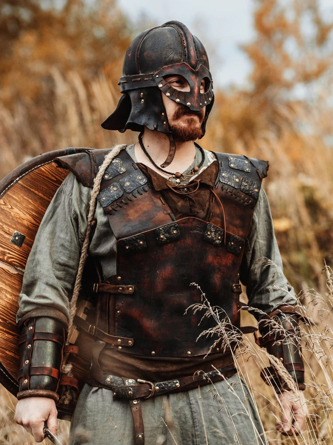 Wikinger Larp Viking Leather Armour Medieval Armor Leather Armor