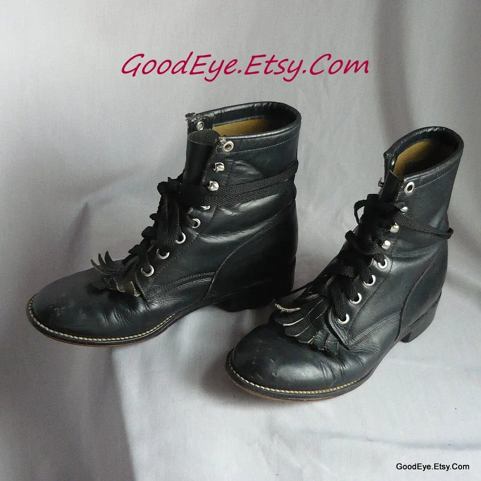 Lace Up Boots Etsy