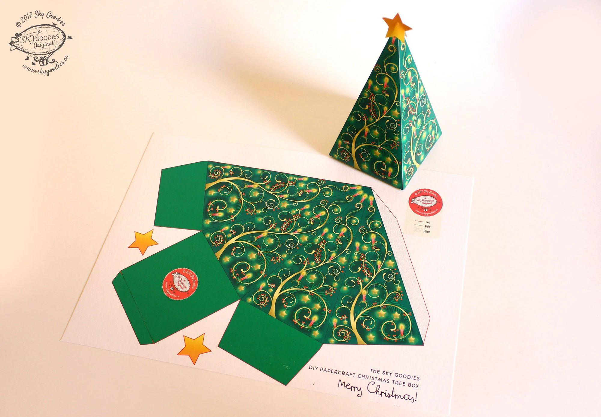 christmas gift box templates