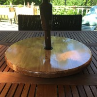 Outdoor Wood Lazy Susan for Patio Table with or Without