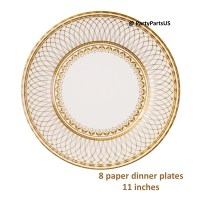 elegant gold and white dinner plates holiday tableware