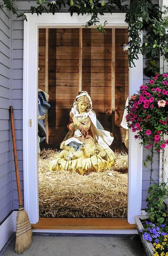 Items similar to Christmas Nativity Scene Decor for Front