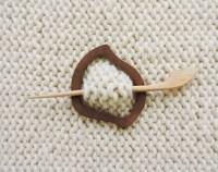 Wooden shawl pin | Etsy