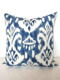 BLUE OUTDOOR PILLOWS Navy Blue Pillow Covers Gray Indoor