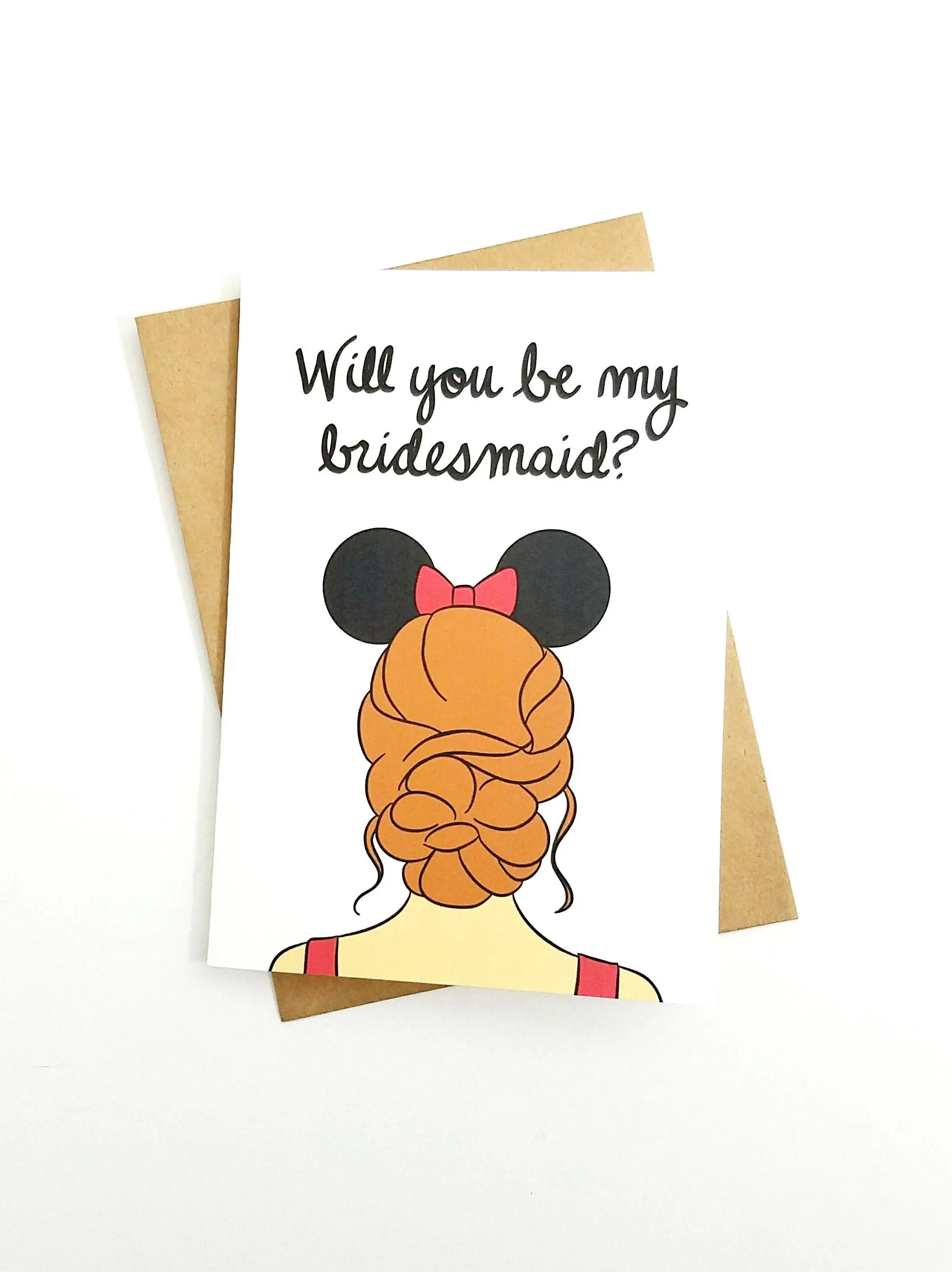 Disney Bridal Party Proposal Card Blank 5x7 Greeting Card - party proposal