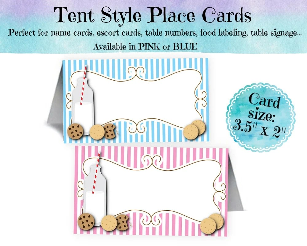 12 Tent Style Place Cards, Name Cards, Buffet Food Labeling Cards