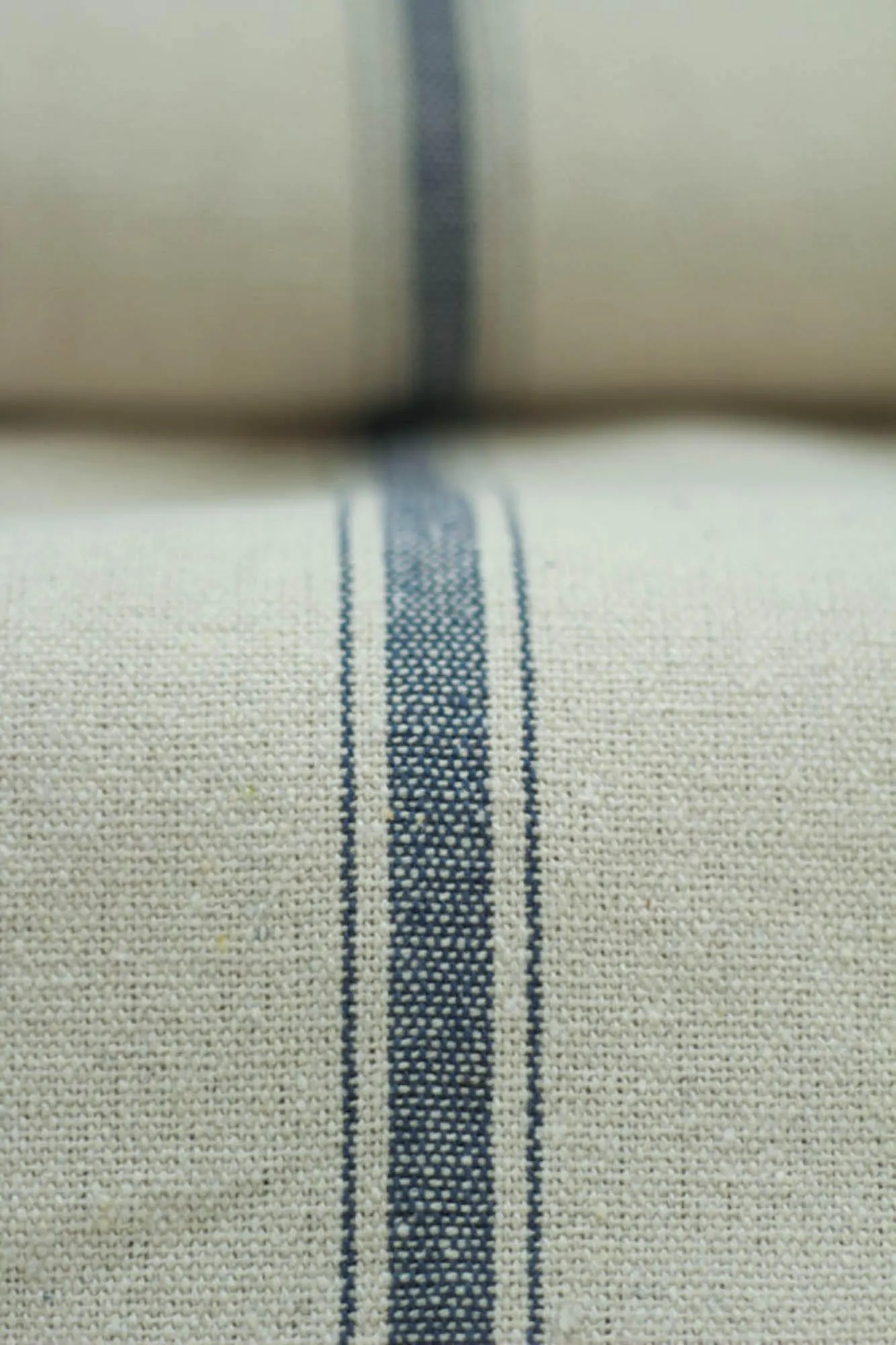 Flour Sack Fabric By The Yard Grain Sack Fabric By The Yard Three Stripe Blue