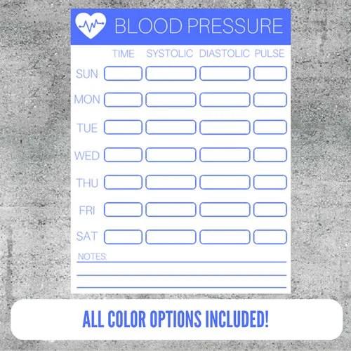 blood pressure log printable - Thevillas - blood pressure printable log