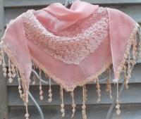 Festival Shawl,Pink Lace Scarf,Triangle Shawl,Bridal Scarf ...