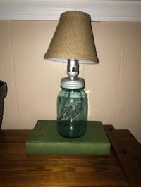 Mason jar lamp | Etsy