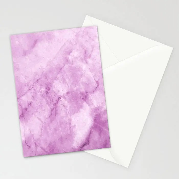 Marble Collection Purple Marble Stationary, Marble Stationary Set - purple note cards