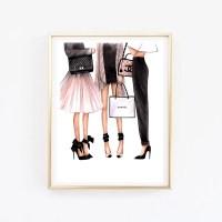 Fashion Illustration Chanel art Chanel print Fashion wall art