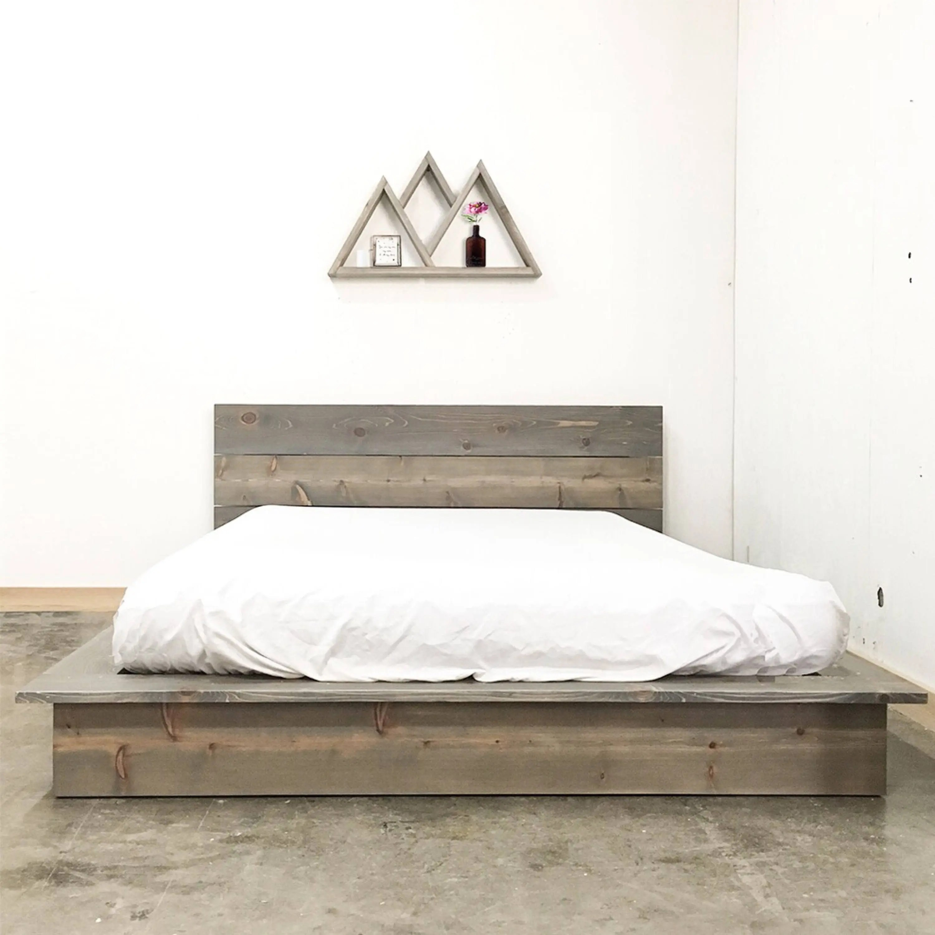 Very Low Platform Bed Rustic Modern Low Profile Platform Bed Frame And Headboard
