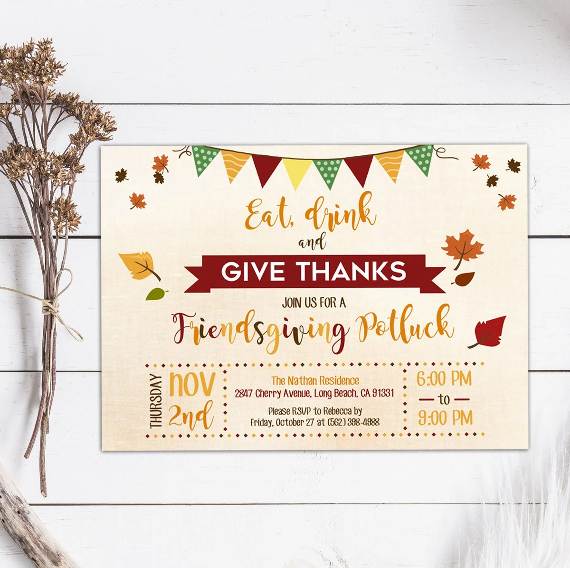 Thanksgiving Invitation, Invitation Thanksgiving, Thanksgiving