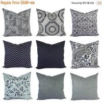 Blue gray pillow | Etsy