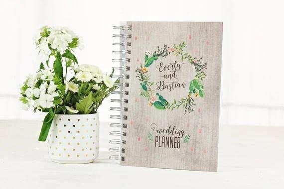 Desert Wedding Planner Book Monthly Planner 2018 Planner
