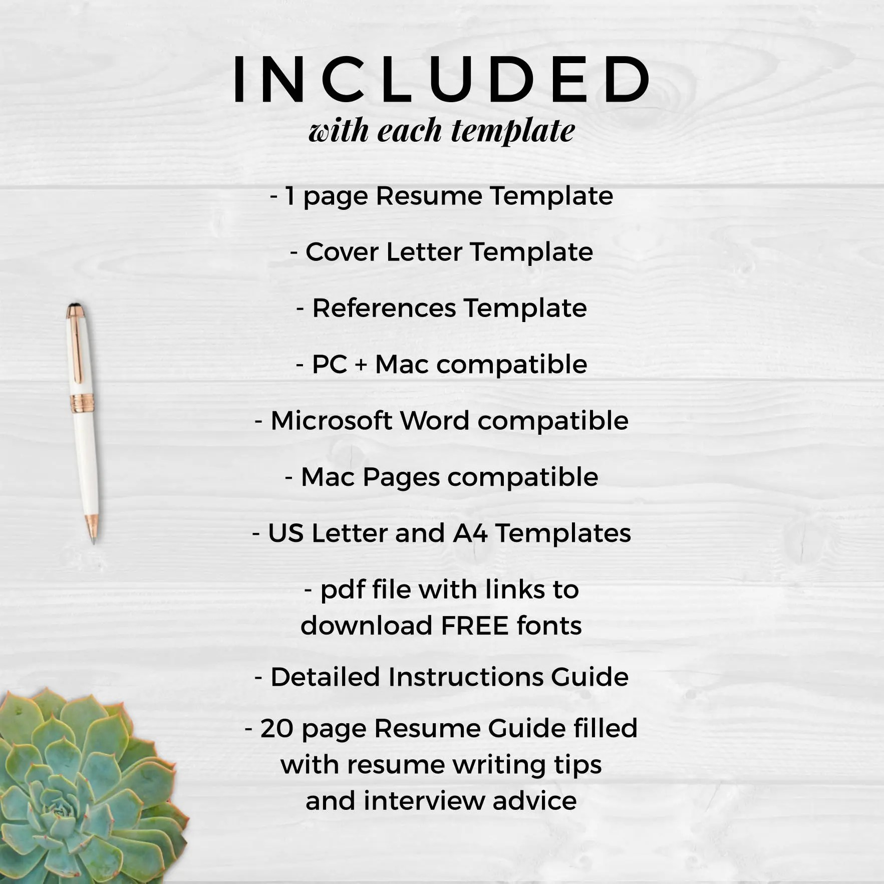 Creative Resume Template Resume for Word \ Pages Resume - mac pages resume templates