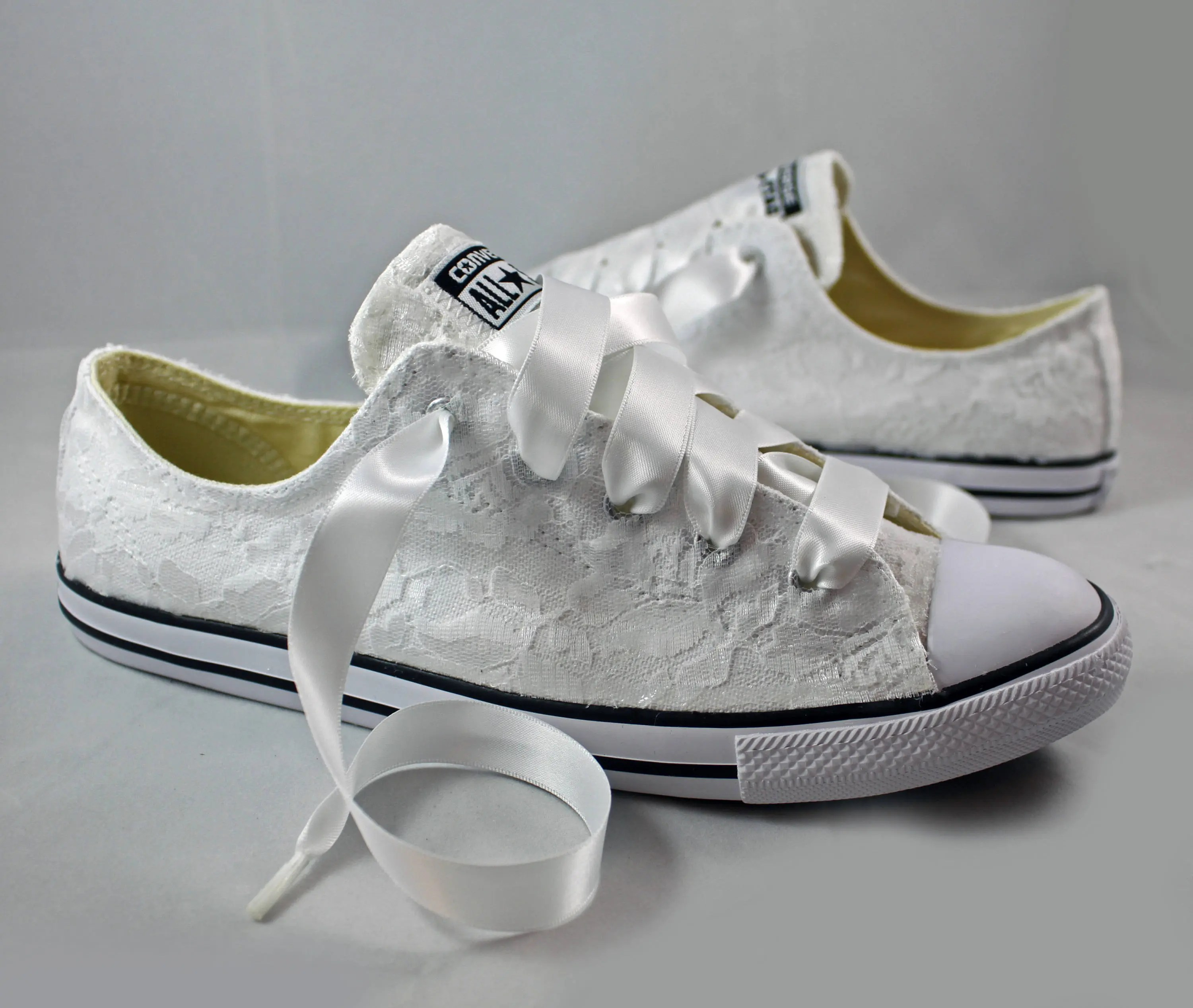 Hochzeits Sneaker Bridal Converses Lace Converse Wedding Tennis Shoes