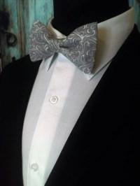 Grey Bow Tie, Grey Bowtie, Gray Bow Tie, Gray Bowtie, Mens ...