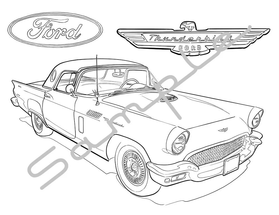 1957 ford thunderbird ledningsdiagram