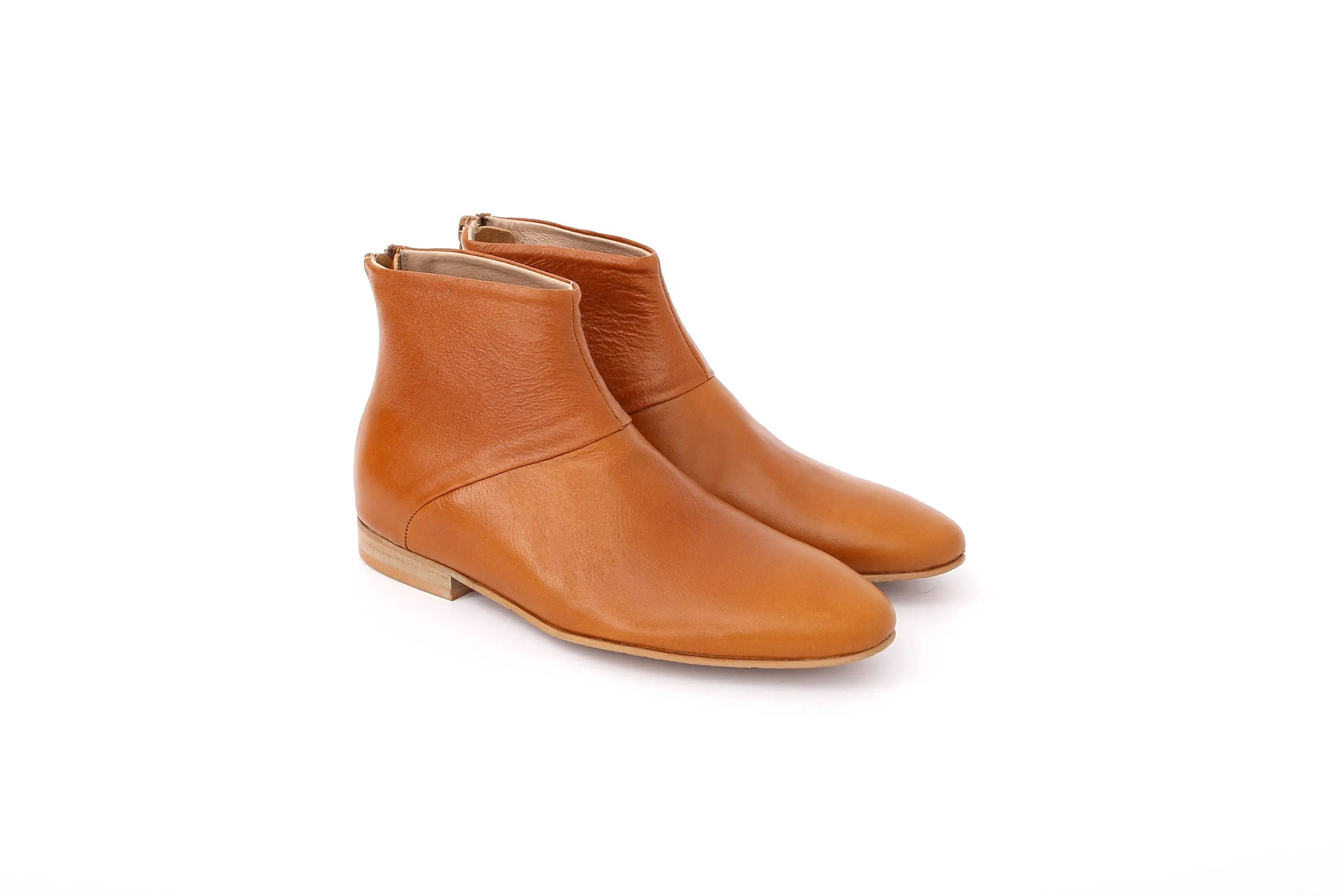 Women39s Boots Flat Ankle Boots Light Brown Camel