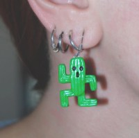 Cactuar earrings from Final Fantasy Geek jewellery Handmade