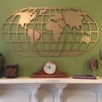 World Map/ Atlas / Globe/ Metal Wall Art
