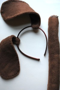 Dog ears and tail for goody bags | COSTUMES This Dog's ...