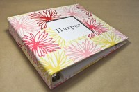 Baby Book -  Flowers  (78 designed journaling pages & personalization included with every album)