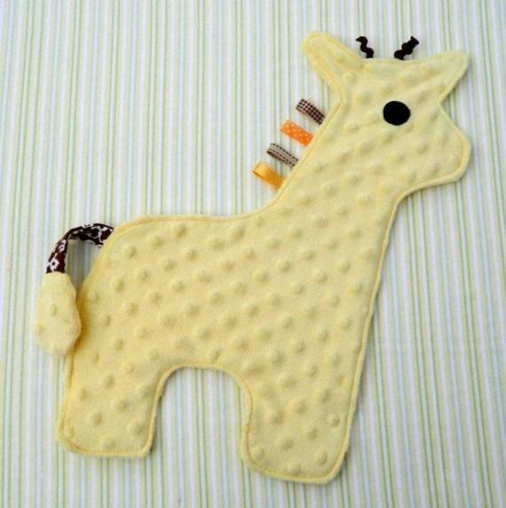 Yellow Baby Giraffe Snugglie