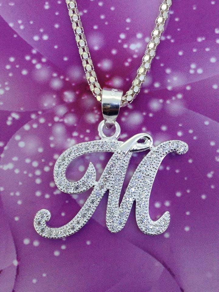 Cute Lockets Wallpaper Necklace With Letter M Pendant Manufacturer In Manila