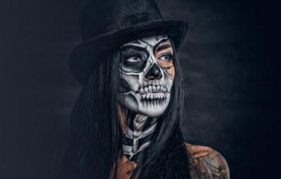 Wallpaper makeup, female, day of the dead, sake images for desktop, section стиль - download